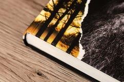 Libro en la superficie de madera Foto de archivo