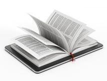 Libro en ordenador de la tablilla Foto de archivo libre de regalías