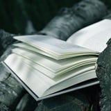 Libro en un paisaje rústico Fotos de archivo