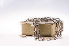 Libro encadenado Imágenes de archivo libres de regalías