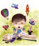 Libro entretenido ilustración del vector