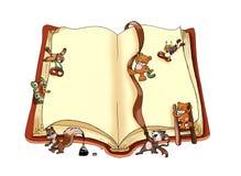 Libro feliz Fotografía de archivo