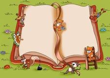 Libro feliz ilustración del vector
