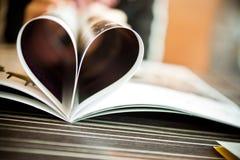 Libro a forma di del cuore Immagine Stock