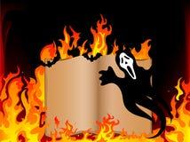 Libro in fuoco Immagini Stock