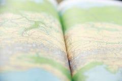 Libro globale verde della mappa Fotografia Stock Libera da Diritti