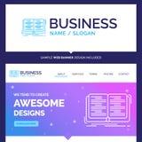 Libro hermoso de la marca del concepto del negocio, educación, lección, s libre illustration