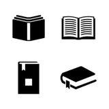 Libro Iconos relacionados simples del vector Imágenes de archivo libres de regalías