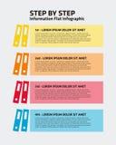 Libro Infographic de 4 pasos ilustración del vector