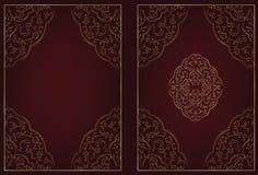 Libro islámico de la cubierta del rezo del estilo fotos de archivo