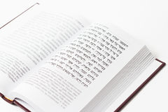 Libro judío en un fondo blanco, salmos de David, primer imagenes de archivo