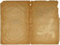 Libro lamentable viejo abierto en ambas paginaciones. Foto de archivo libre de regalías