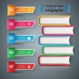 Libro, lectura, educación - escuela infographic stock de ilustración