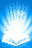 Libro mágico de la sabiduría stock de ilustración