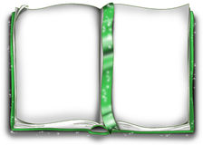 Libro mágico verde Imágenes de archivo libres de regalías