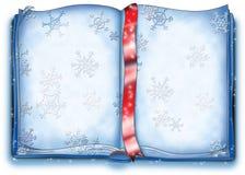 Libro magico della neve Fotografie Stock
