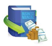 Libro manuale di istruzione di affari Immagine Stock Libera da Diritti