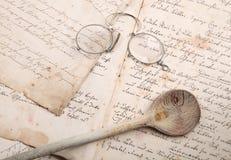 Libro manuscrito del cocinero Fotografía de archivo