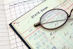 Libro mayor del banco Foto de archivo libre de regalías