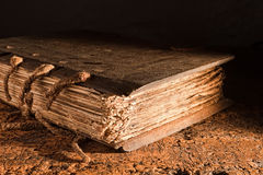 Libro medieval Foto de archivo