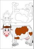Libro-mucca di coloritura Fotografie Stock Libere da Diritti