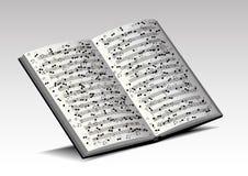 Libro musicale Immagine Stock