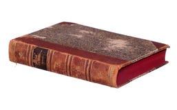 Libro muy viejo con las paginaciones rojas imagenes de archivo