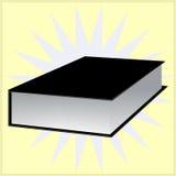 Libro negro con el fondo Vector EPS 10 Imagen de archivo libre de regalías