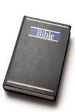 Libro nero della bibbia Fotografie Stock