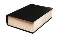 Libro nero isolato su bianco Fotografia Stock