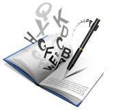 Libro o cuaderno y lápiz Imagen de archivo libre de regalías