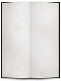 libro o menu aperto con struttura della priorità bassa del grunge Fotografia Stock