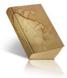 Libro oxidado viejo aislado en blanco Imagenes de archivo