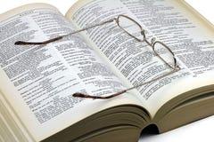 Libro por Shakespeare y los vidrios Imagen de archivo libre de regalías