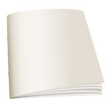 Libro posteriore del documento Immagini Stock