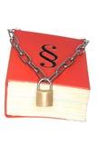 Libro protegido con la cadena imágenes de archivo libres de regalías