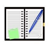 Libro record e penna Fotografia Stock