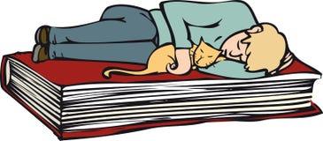 Libro relajante ilustración del vector