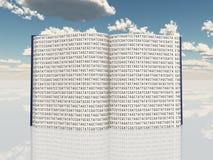 Libro riempito di codice genetico Fotografia Stock Libera da Diritti