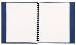 Libro rilegato a spirale in bianco XXL di presentazione fotografie stock libere da diritti