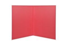 Libro rojo abierto de la carpeta aislado Imagen de archivo libre de regalías