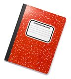 Libro rojo de la composición en blanco Imagenes de archivo