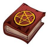 Libro rojo del Pentagram, ejemplo del vector Foto de archivo libre de regalías