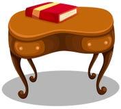 Libro rojo en el escritorio Fotografía de archivo libre de regalías