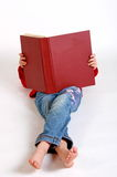 Libro rojo grande Imágenes de archivo libres de regalías