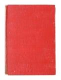 Libro rojo viejo de la cubierta aislado Imagen de archivo