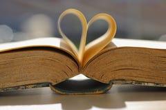 Libro romantico Fotografie Stock