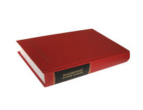 Libro rosso fotografie stock libere da diritti
