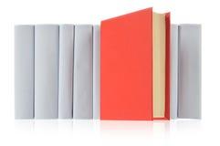 Libro rosso & libri grigi Fotografia Stock