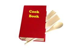 Libro rosso del cuoco isolato fotografia stock libera da diritti